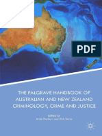 Palgrave Handbook of Australian and New Zealand Criminology, Crime and Justice - Cover
