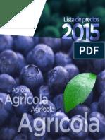 Lista Precios Agro 2015