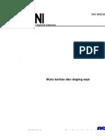 SNI 3932 2008 Mutu Karkas Dan Daging Sapi PDF