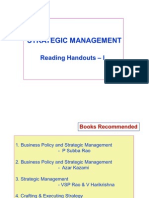 Strategic Mgt - Handouts - I