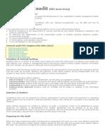 Internal Audit Process 9001 2015