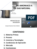 Obtencion de Amoniaco a Partir de Gas Natural