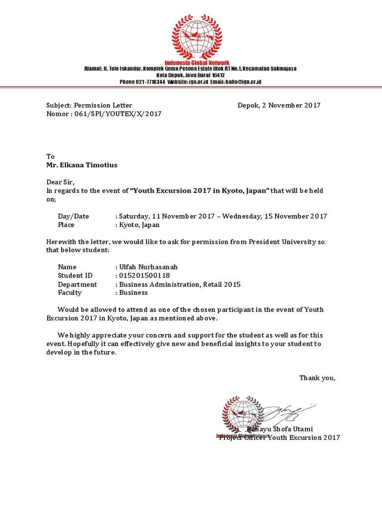 Medical Permission Letter Free Template Letter Of Intent Template Job  Medical Permission Letter