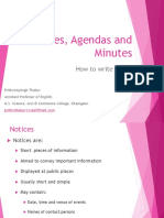 Notices, Agendas and Minutes