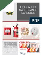 Fire Safety Maintenance Plan