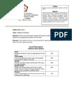 MSC Assessment Sample