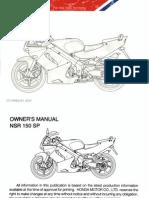 Honda NSR150SP OM