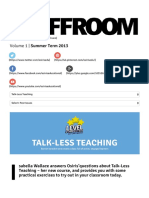 Staffroom Talk-Less Teaching