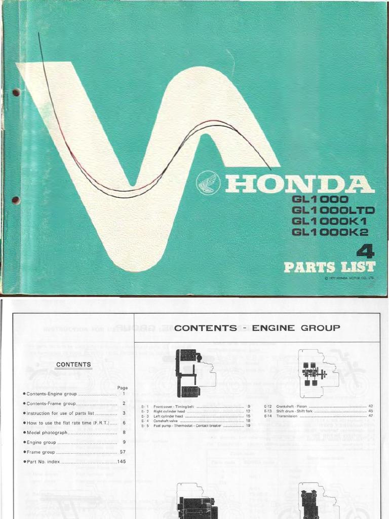GL1000 1975-1977 - Parts | Vehicle Technology | Engines