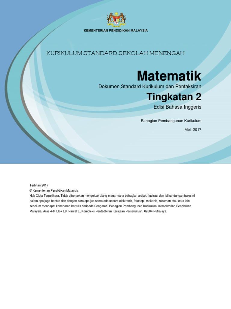Dskp Kssm Mathematics Form 2 | Mathematics | Physics & Mathematics