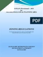 Nelamangala Master Plan 2031 Provisional Zoning Regulations