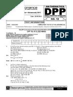 XI Maths DPP (05) - Basic Maths + Quadratic Equation + Sequence_Series