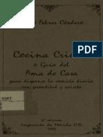 Cocina Criolla Venezolana Antigua