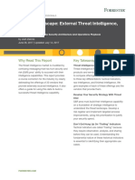 Vendor Landscape External Threat Intelligence - Forrester