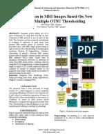 Tissue Detection in MRI Images Based On New Modified Multiple OTSU Thresholding