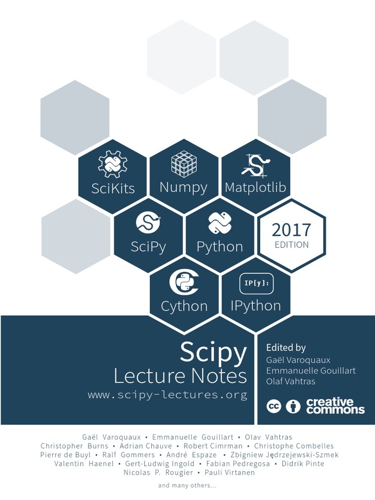 ScipyLectures Simple | Python (Programming Language) | Matlab