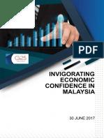 INVIGORATING ECONOMIC CONFIDENCE IN MALAYSIA - G25 REPORT