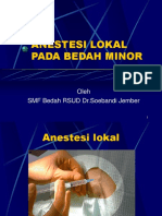 Anestesi Lokal Pada Bedah Minor