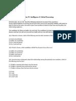 Management Aptitude Test 2000 Intelligence and Critical Reasoning
