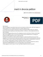 Written Statement in Divorce Petition