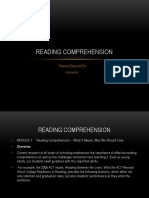 Reading Comprehension and Purpose for Reading