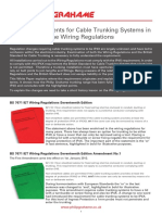 Wiring Regulations Cable Trunking