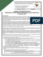 2do Diplomado en INTELIGENCIA EMOCIONAL para la Gerencia de Proyectos 2017.pdf