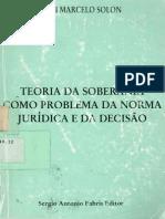 Ari Marcelo Solon - Teoria Da Soberania Como Problema Da Norma Jurídica e Da Decisão