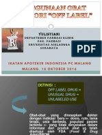 Off Label Drug PC IAI Malang HO