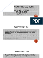 rivera michael principal competencies reflection