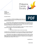 Fund Raising Letter