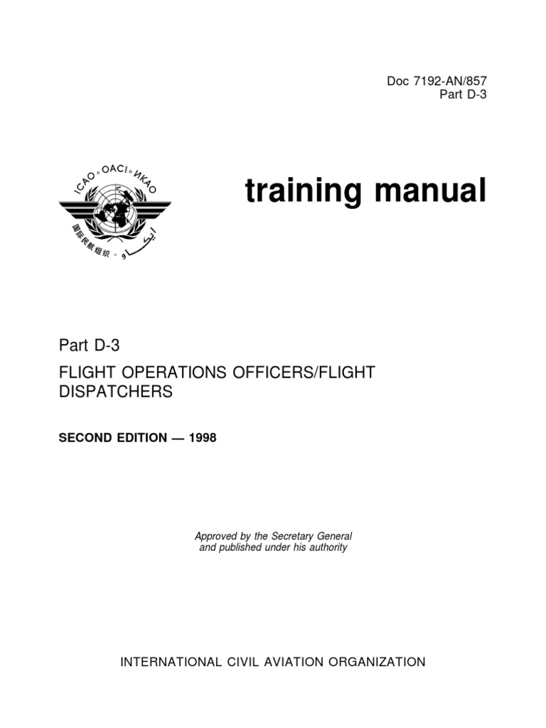 documents mx icao doc 7192 training manual flight dispatchers pdf rh scribd com