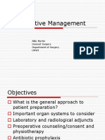 Preoperative Management