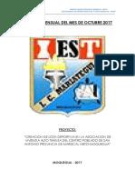 Informe Mensual de Obra
