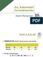 Suhu Kalorimetri Termodinamika (Rumus)