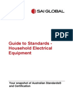 Guide to Standards-Household Electrical Equipment