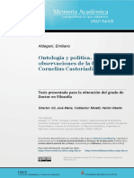 Ontologia y Politica - Castoriadis
