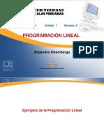 Semana 2.3 Ejemplos de Programación Lineal