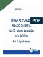 12 - Técnica de Redação Texto Definitivo