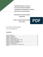 Formato Para Plan Estratégico PDF