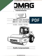 Manual Servicio Mantenimiento Bw212 Pd40 Rodillo Autopropulsado Bomag