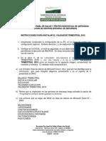 Instrucciones Validador Trimestral 2016