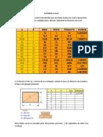 Actividad en Excel