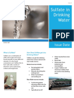 Sulfate in Drinking Water Information