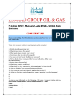 ESNAAD Group Oil & Gas Online Interview Application Form.