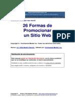 26 Formas de promocionar un Sitio Web.pdf