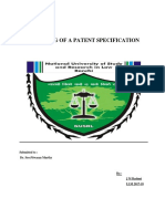 Drafting of a Patent Specification