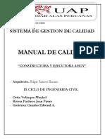 Manual de Calidad Constructora Ahov