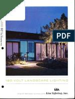 Kim Lighting 120 Volt Landscape Lighting Products Catalog 1972