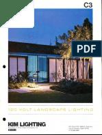 Kim Lighting 120 Volt Landscape Lighting Products Catalog 1977